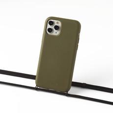 Duurzame telefoontas groen met koord (zwart)