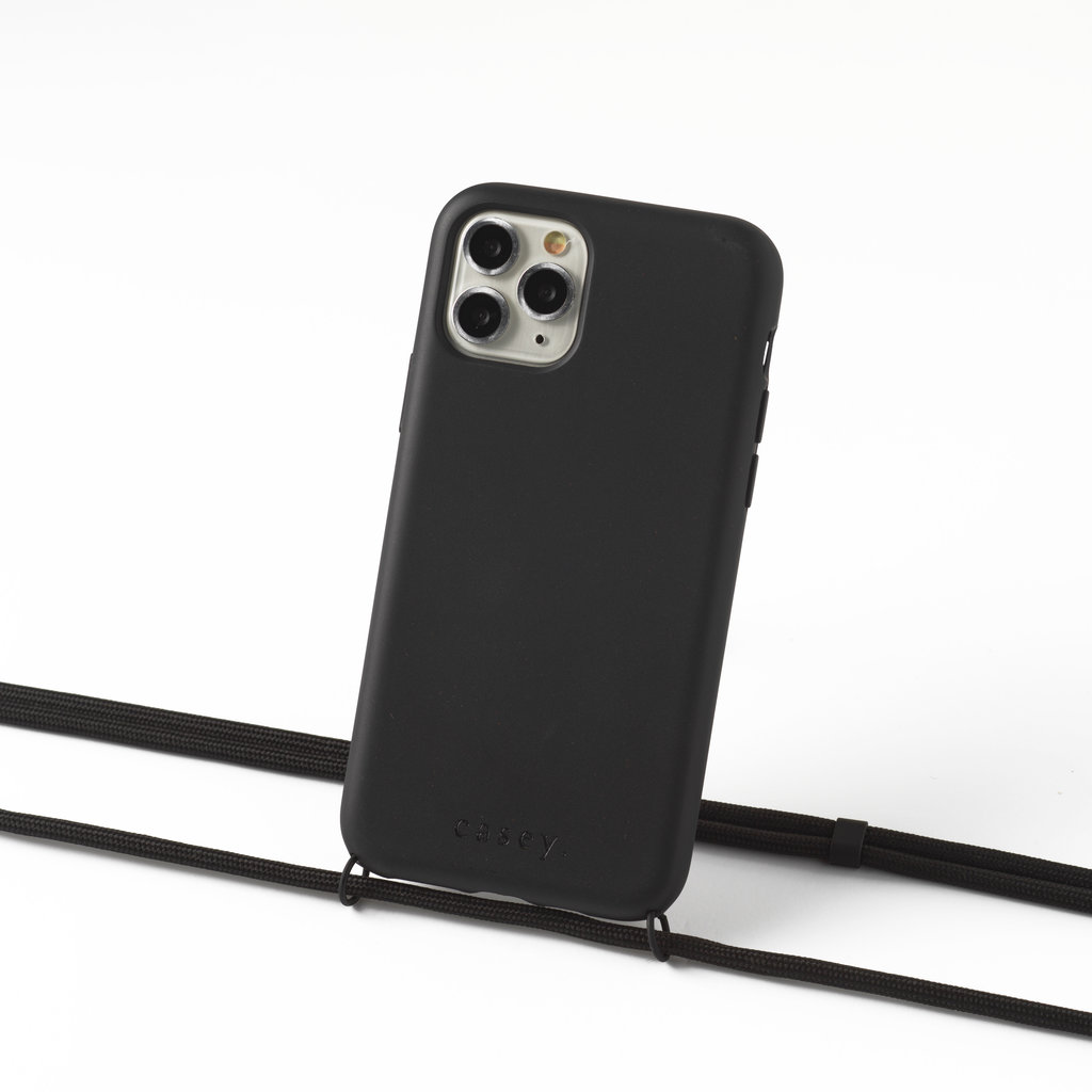 Sustainable black case with cord (black)