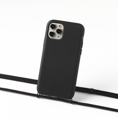Duurzame telefoontas zwart met koord (zwart)