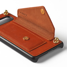 Brown phoneclutch with leather band