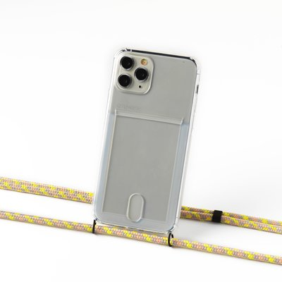 Transparent case with cardholder and camouflage salmon cord