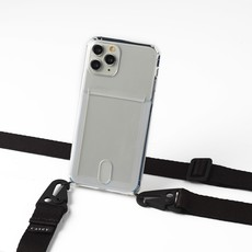 Transparent case with cardholder and black band