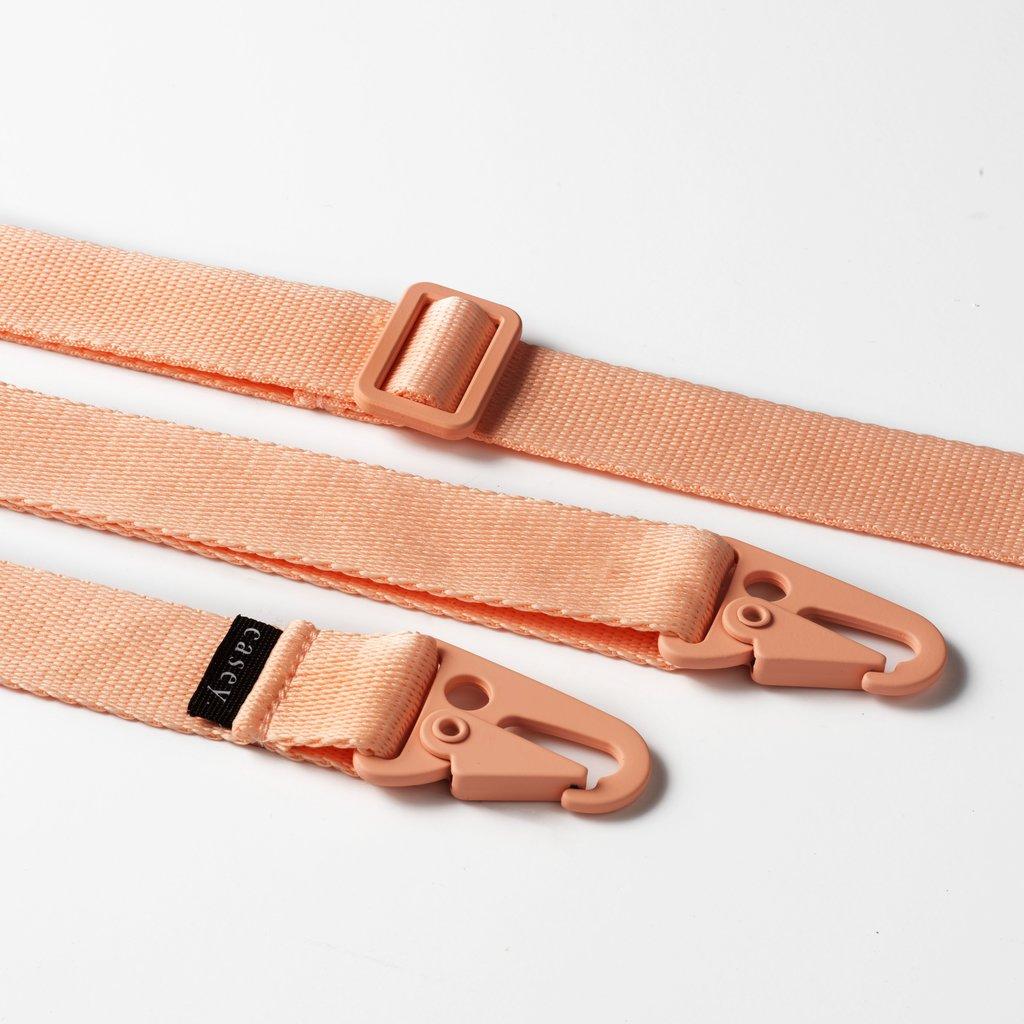 Transparant hoesje met ruimte voor pasjes en roze band