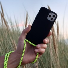 Sustainable black case with coard   (neon yellow)
