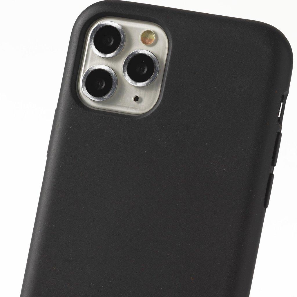 Duurzame telefoontas zwart met koord (neon pink)