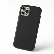 Duurzame telefoontas zwart met koord (camouflage aubergine)