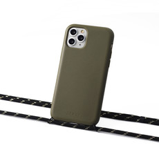 Sustainable green case with cord (black and gold)