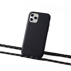 Sustainable black case with cord (black with gold)