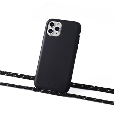 Sustainable black case with coard (black with gold)