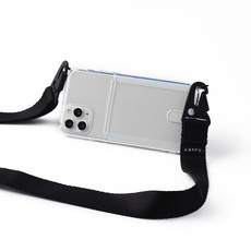 Transparent phone holster with cardholder and black band
