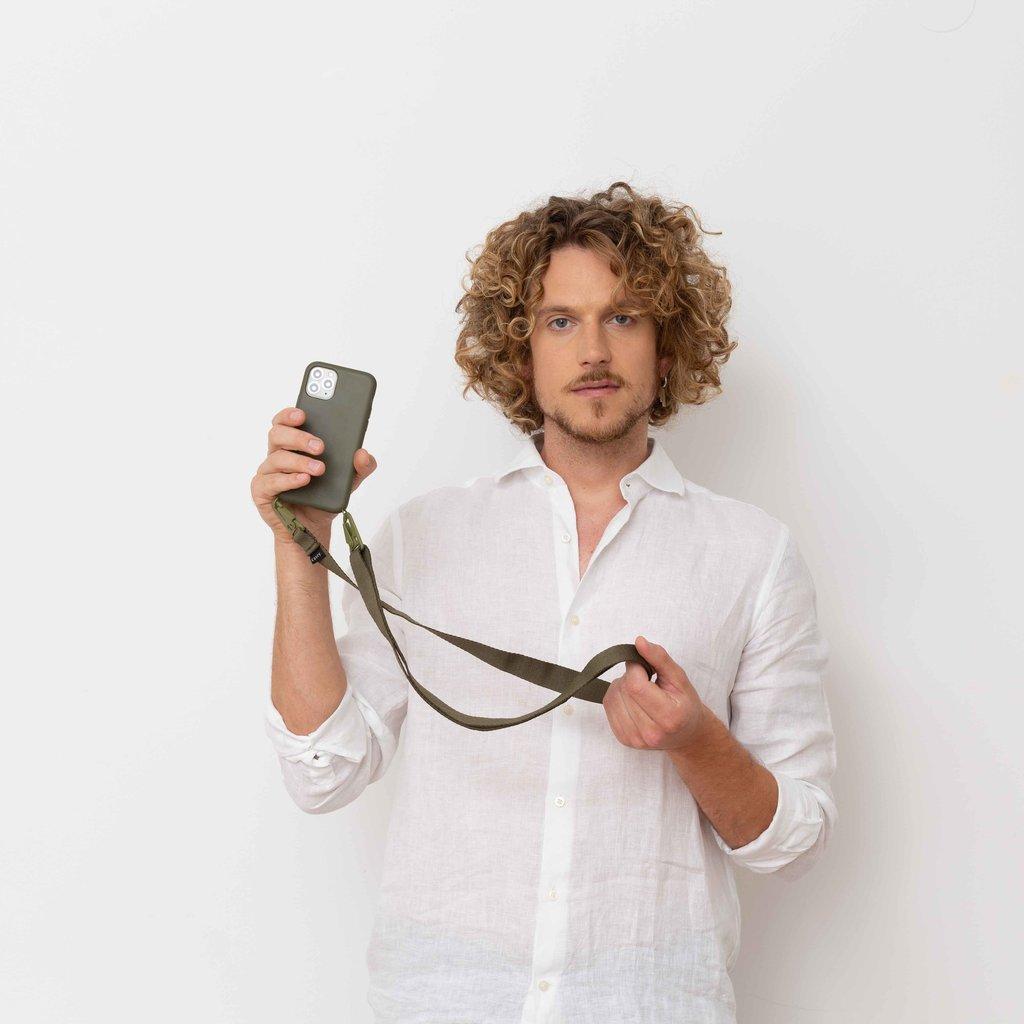 Clipband voor aan je telefoon (groen)