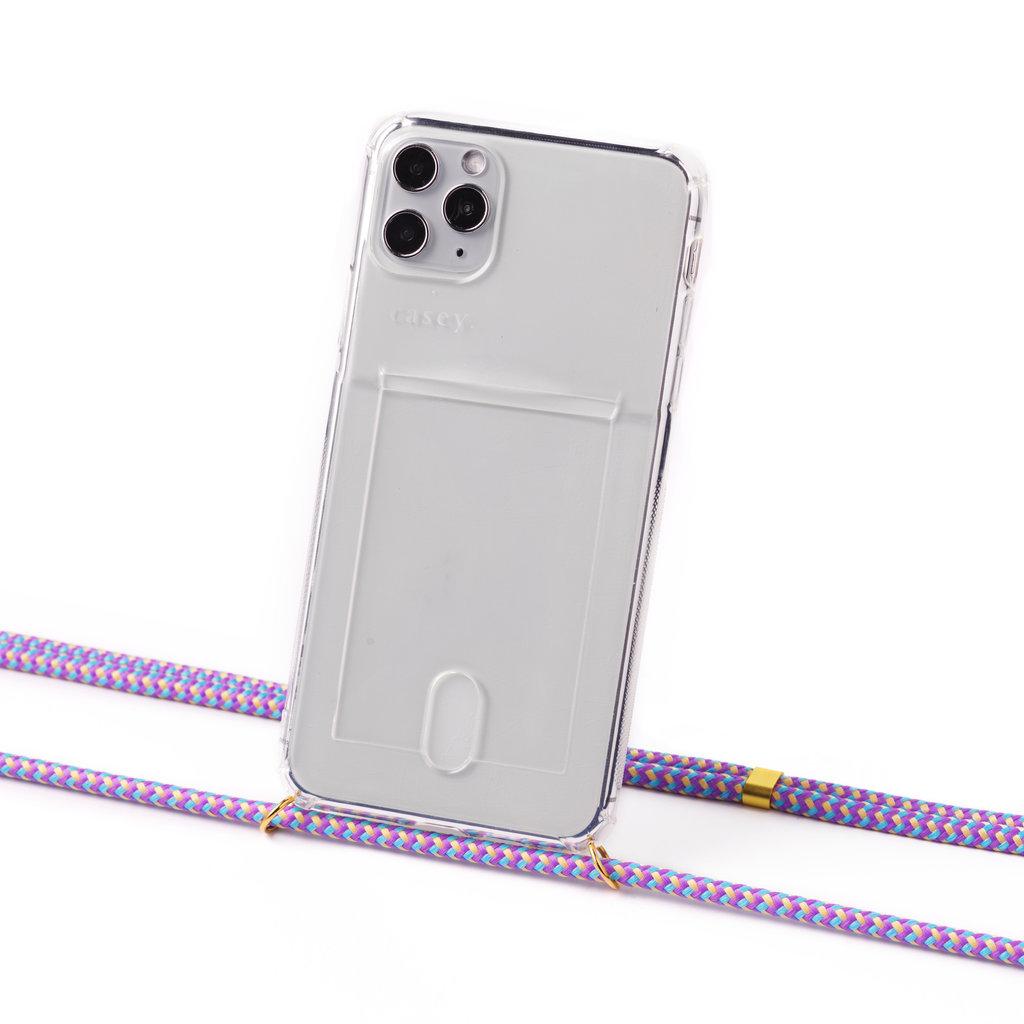 Phone cord lila camouflage