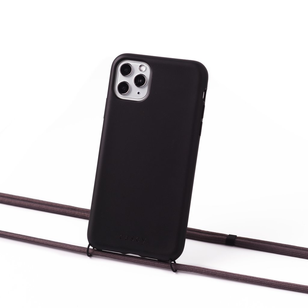 Sustainable black case with cord  (scandinavian grey)
