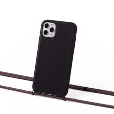 Duurzame telefoontas zwart met koord (scandinavisch grijs)