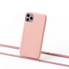 Sustainable pink case with cord (scandinavian pink)