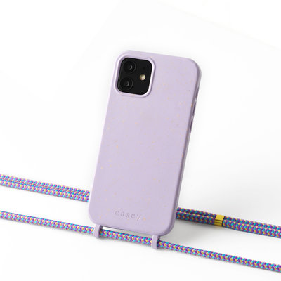 Sustainable lila  case with cord (lila camouflage)