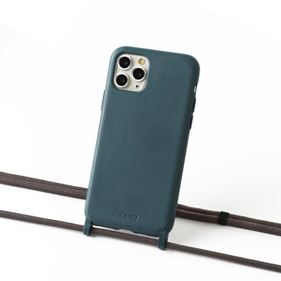 Sustainable grey-blue case with cord  (grey)
