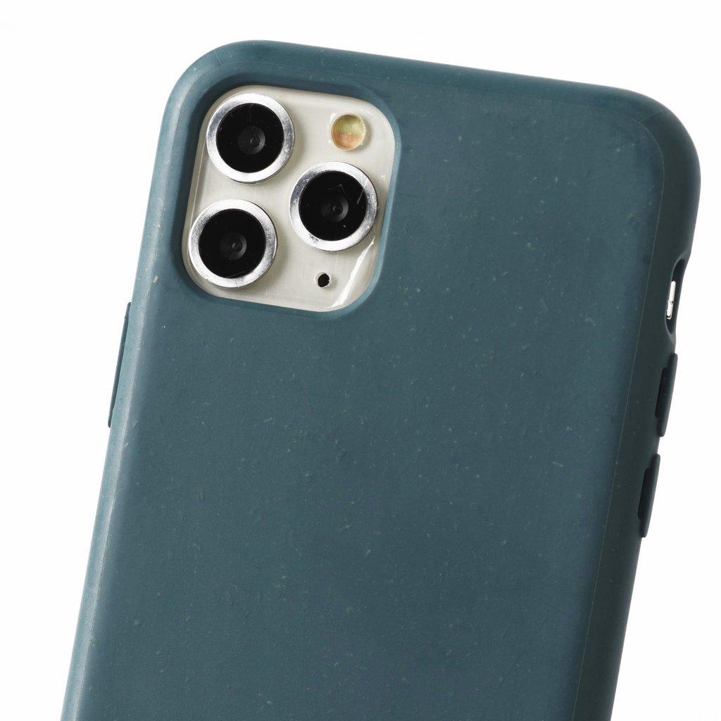 Duurzame telefoontas grijsblauw met koord (grijs)