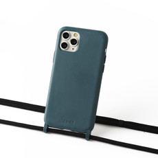 Sustainable grey-blue case with cord  (black)