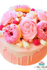 Babyshower dripcake Roze