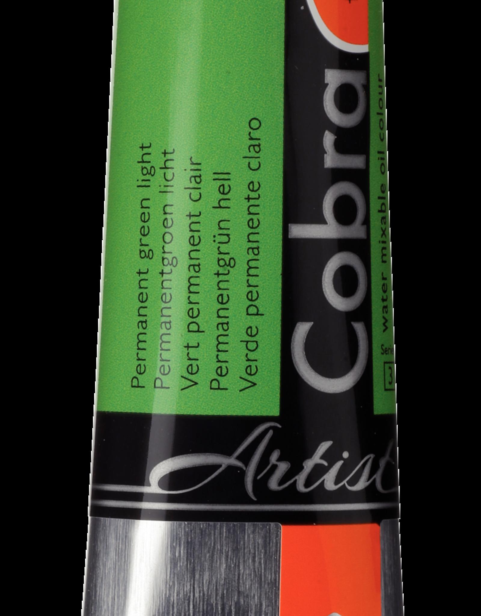 Talens Olieverf waterverdunbaar Talens Cobra Artist, 40ml Permanent Groen Licht/ Permanent Green Light no 619/3