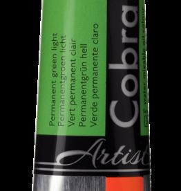 Talens Olieverf waterverdunbaar Talens Cobra Artist, 40ml Permanent Groen Licht/ Permanent Green Light no 618/3
