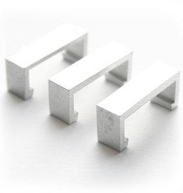 Barth 10 stuks Barth C-beugeltje, voor het ophangen van meerder lijsten onder elkaar Aluminium Satine, 2 per lijst