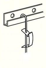3 stuks ophangstang roestvaststaal 3mm met j-haak 150 cm lang