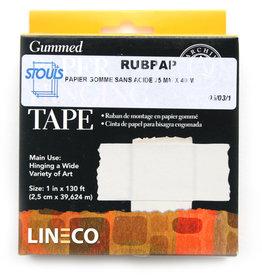 Rubpap Gompapier/ Gomtape zuurvrij voor ophangen tekeningen in passepartout 25mmx40m Rubpap
