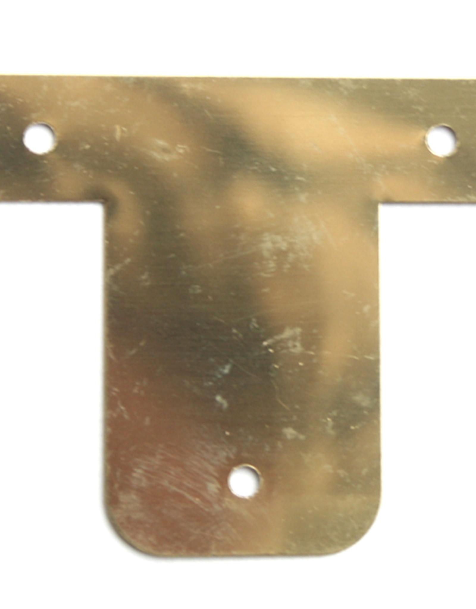Larson Juhl 24 stuks Spielatplaat 45x50mm Vermessingd Blik.