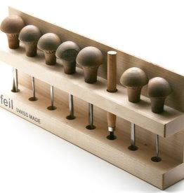 Pfeil set luxe lino/houtgutsen Pfeil 12stuks serie9(halfronde-u )2+5+7+10mm, serie12 (diepev) 1+4+12mm, serie5 (lichtgebogen-u)6+12mm, serie7 (sterkgebogen-u) 6mm, serie 1 (mes recht) 8mm,serie 1s (mes schuin) 8mm