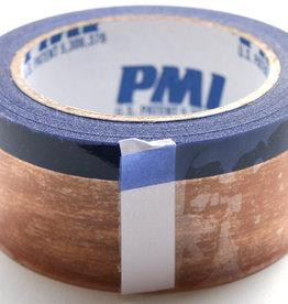 PCT Polyesther Quick Rip Tape, Transparant met blauwe niet klevende scheurrand.