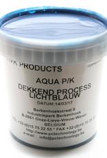 HVK Papierinkt HVK Aqua PK Dekkend  Blauw Process 1 kilo