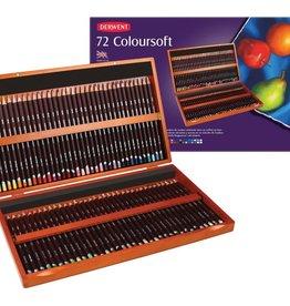Derwent Prof-pakket kleurpotloden Derwent Coloursoft 72 stuks in luxe houten kist