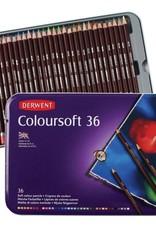 Derwent Luxe-pakket kleurpotloden Derwent Coloursoft 36 stuks in metalen box