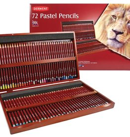 Derwent Prof-pakket pastelpotloden 72 stuks Derwent in Luxe Houten kist.