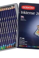 Derwent Actief-pakket aquarelpotloden Derwent Inktense 24 stuks in metalen doos