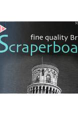 Essdee Scraperboard 30,5x50,2 cm, Essdee, Zwarte bovenop witte onderlaag die eenvoudig wegkrast.