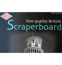 Essdee 2 stuks Scraperboard 30,5x50,2 cm, Essdee, Zwarte bovenop witte onderlaag die eenvoudig wegkrast.