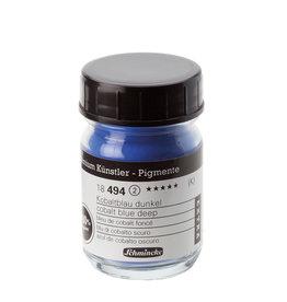 Schmincke Pigment 1000 ml Blauw Kobalt Donker/ Cobalt Blue Deep (PB74) no 494 Schmincke