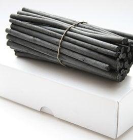 30 stuks houtskool in kartonnen doos doorsnede ±8 9mm