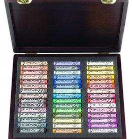 Talens Prof-set Pastelkrijt Talens Rembrandt 60 hele + 60 halve pastels Assorti in zwartkartonnen doos, 3 laden