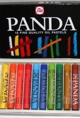 Talens Basis-set Oliepastelkrijt Talens Panda 12 stuks Assorti in zwartkartonnen doos 400C12