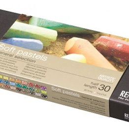 Talens Basis-set Pastelkrijt/ Softpastels, Talens Rembrandt 30 halve pastels Assorti in zwartkartonnen doos