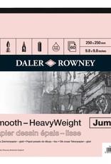 Daler-Rowney Blok Tekenpapier Jumbo (25x25cm) Daler-Rowney Heavy Weight 220 grs 60 vel