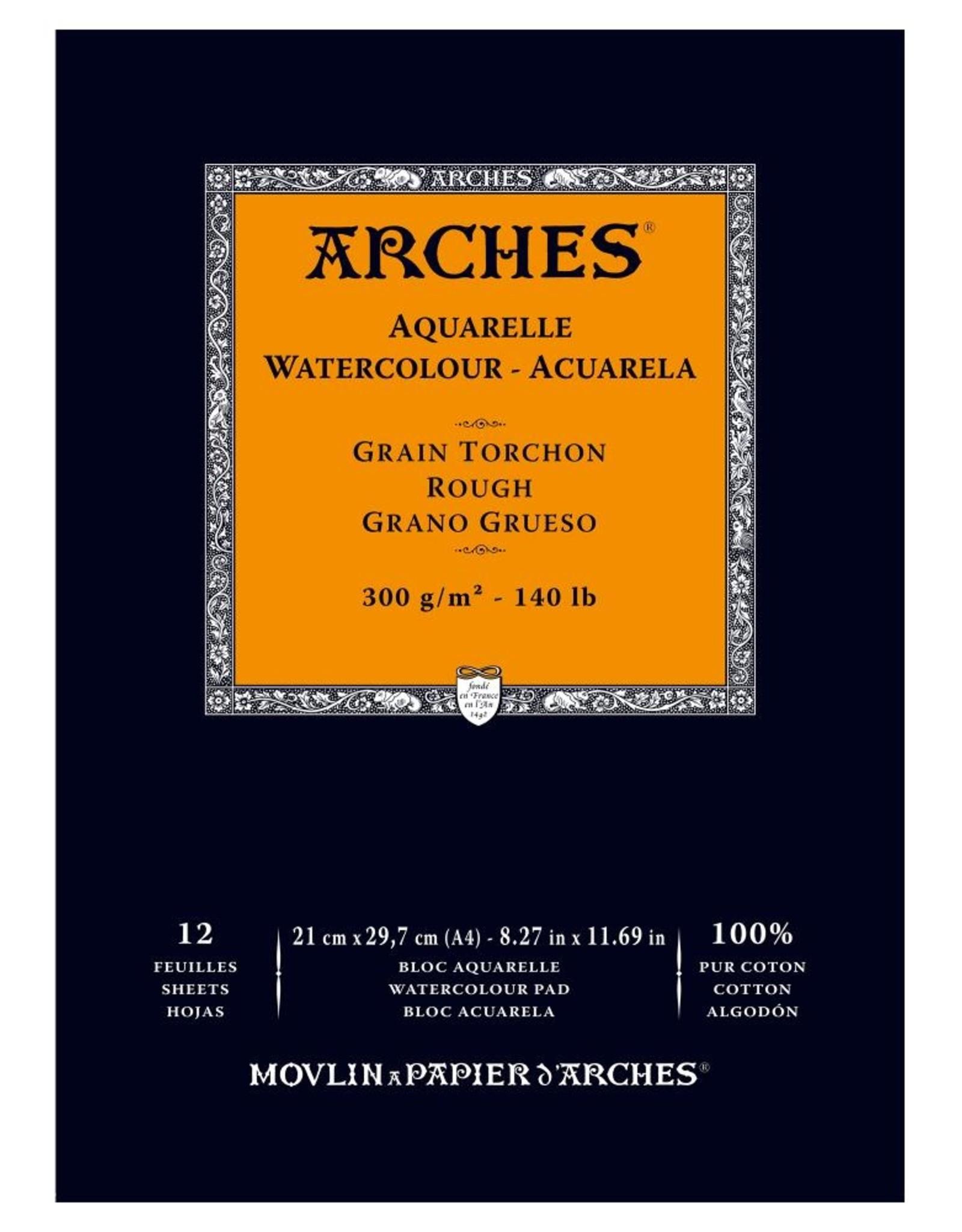 Arches Arches staat voor topklasse aquarelpapier in drie soorten korrel: Niet - ruw, koud - middel, en heet -fijn- geperst. Alle blokken zijn in de stof gelijmd. Ze voelen voor de beginner misschien wat kartonnig aan, maar leveren de allermooiste verfvlek.