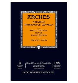 Canson Aquarelblok Arches 300 grams Natuurwit A4 12vel Rough/ Ruwe korrel