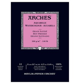 Arches Aquarelblok Arches 300 grams Natuurwit 12vel Heet geperst Fijne korrel