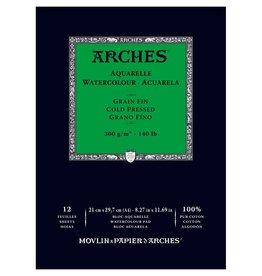 Aquarelblok Arches 300 grams A4 Natuurwit 12vel Koud geperst Middelfijne korrel