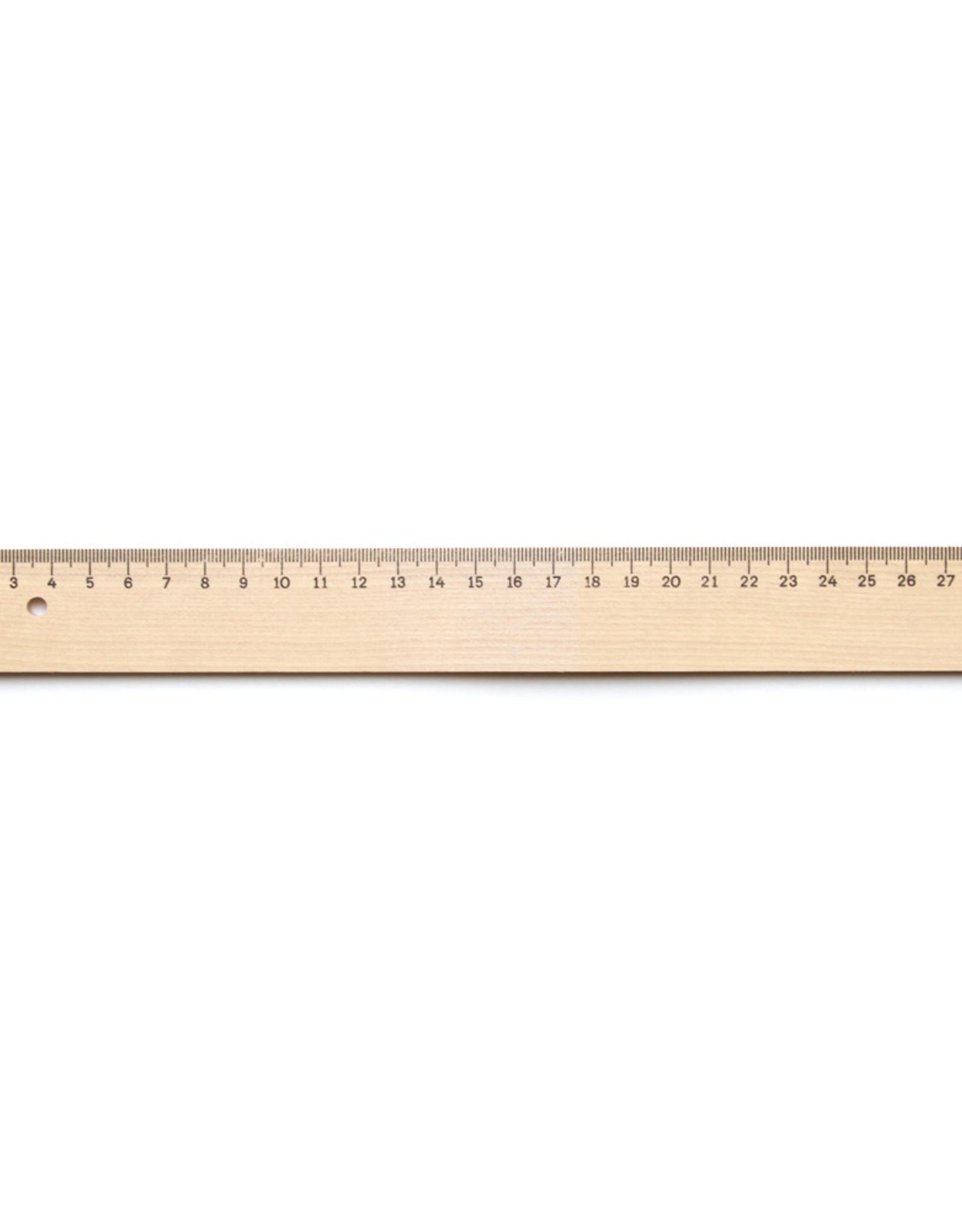 Mobius Ruppert 3 stuks Liniaal Hout Aristo 30 cm met verdeling en metalen inleg